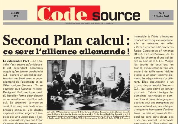 "Extrait magazine ""Code Source"" INRIA"
