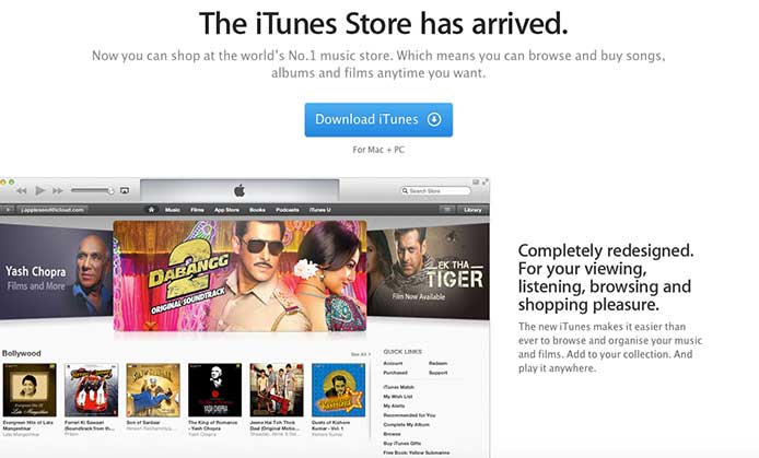 Lancement iTunes Music Store