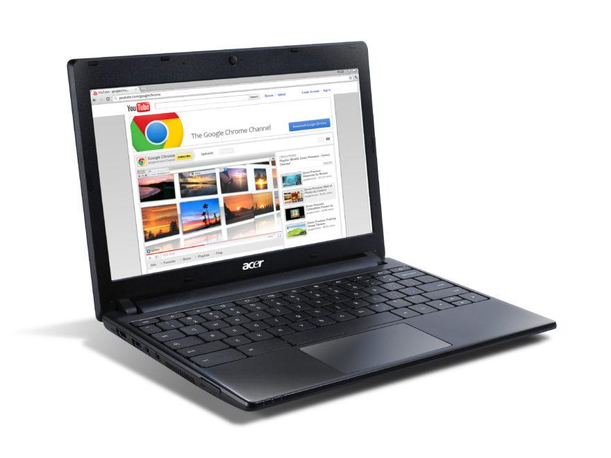 Un chromebook de marque Acer